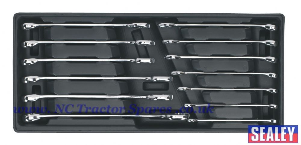 Tool Tray with Combination Spanner Set 13pc Metric